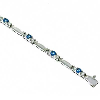 View Diamond And Aquamarine Bracelet