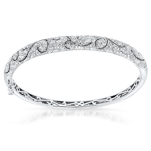 View Diamond Swirl Bangle
