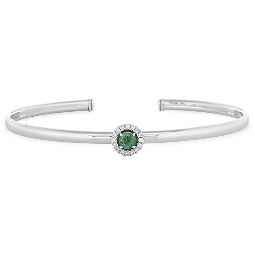 View Emerald & Diamond Bangle