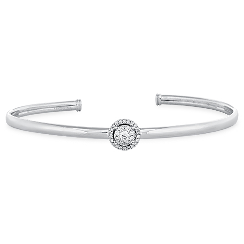 View Diamond Cluster Bangle