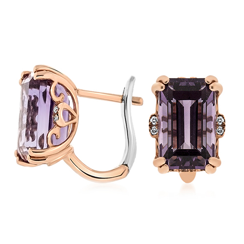 View Amethyst & Diamond Earrings