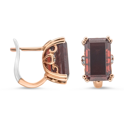 View Garnet & Diamond Earrings