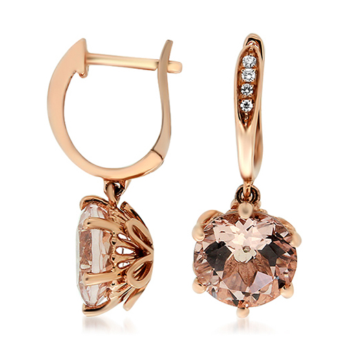 View Morganite & Diamond Pendant