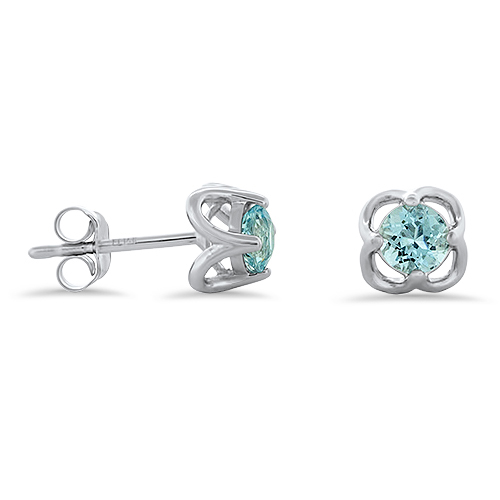View Aquamarine Fancy Stud Earrings