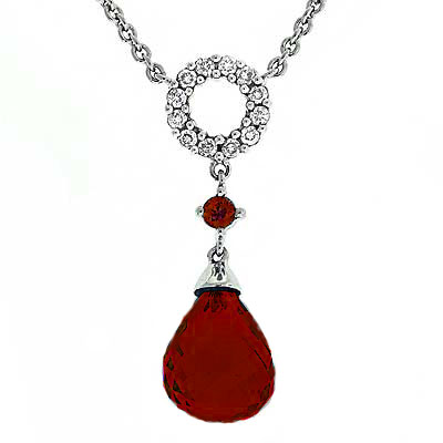 View Garnet And Diamond Necklace