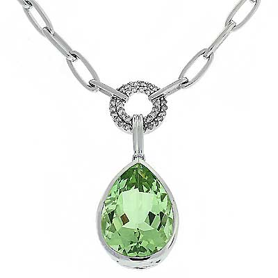View Green Amethyst & Diamond Necklace