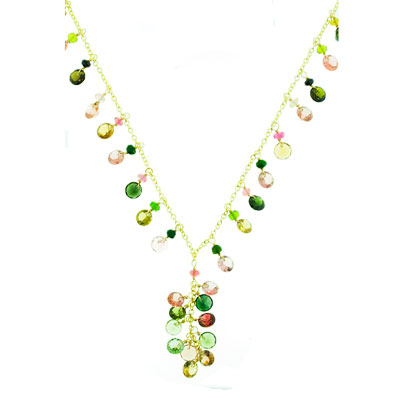 View Multi Tourmaline Necklace