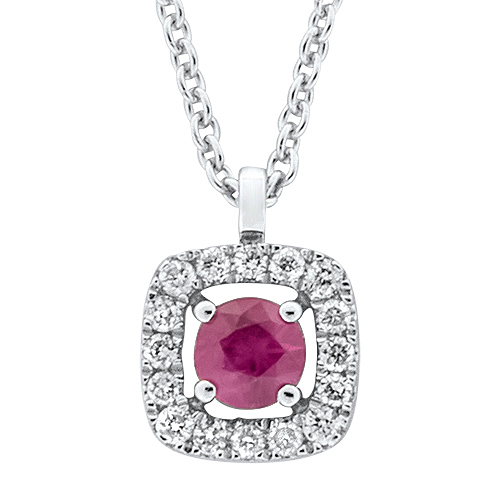 View Ruby & Diamond Pendant With Chain