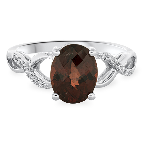 View Diamond & Garnet Ring