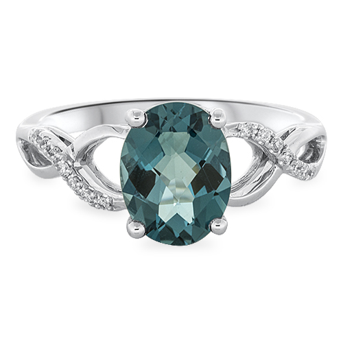 View Diamond & London Blue Ring