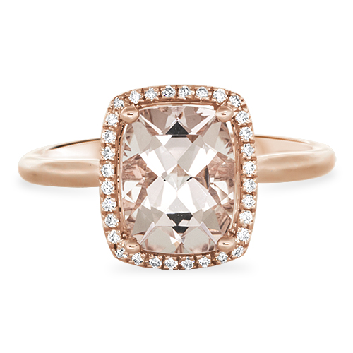 View Morganite & Diamond Ring