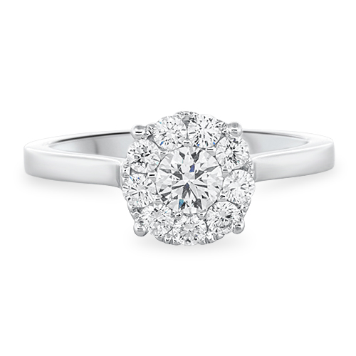 View Fancy Diamond Cluster Ring