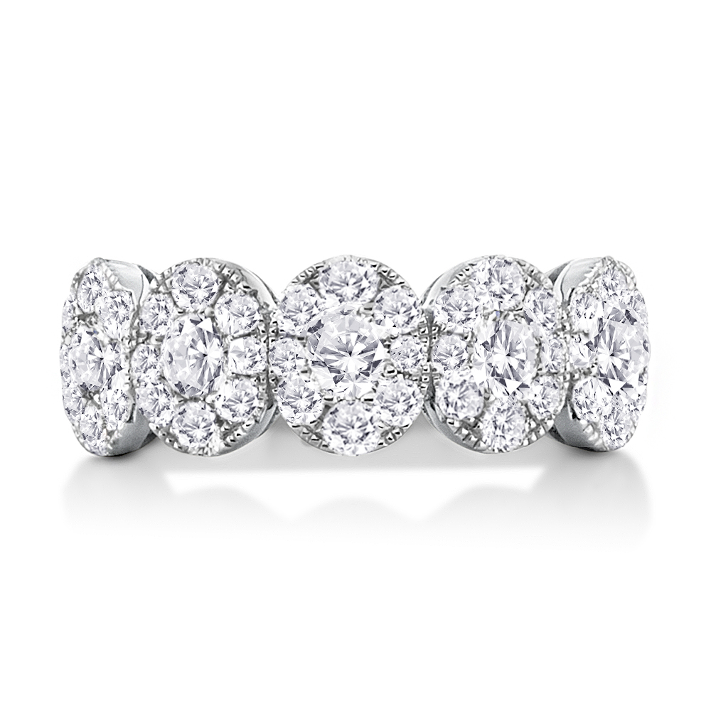 View Diamond Cluster Ring